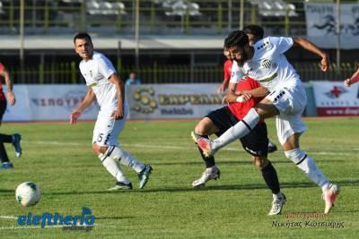 """71 """"κλικ"""" από τον αγώνα Καλαμάτα - Σαντορίνη 1-0"""